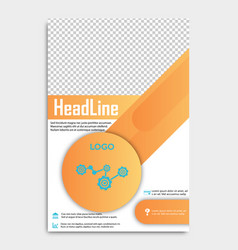 brochure design template abstract triangles vector image