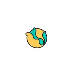cabbage icon design gastronomy icon design vector image