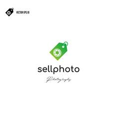 camera shutter icon with sale logo design vector image