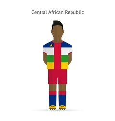 Central African Republic football player Soccer vector image