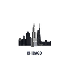chicago principal buildings vector image