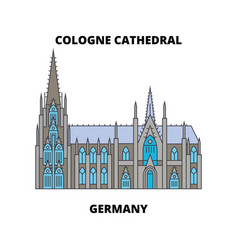 cologne cathedral germany line icon concep vector image