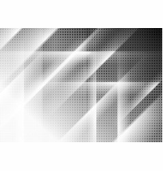 contrast white and black tech geometric background vector image