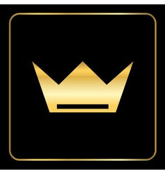 Croun gold icon royal black vector