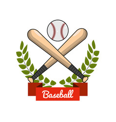emblem baseball play icon vector image