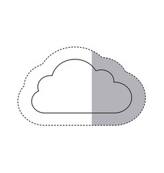 figure sticker cloud icon vector image