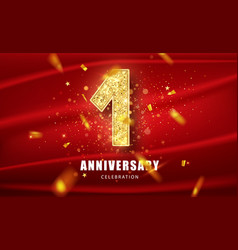 first anniversary celebration anniversary vector image