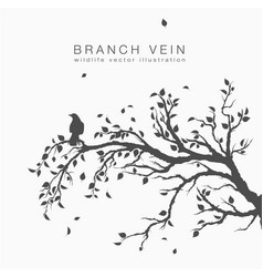 flock of flying birds on tree branch tree vector image