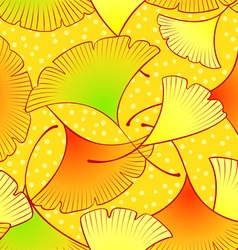 Gingko leaves pattern vector