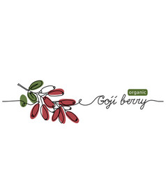 Goji berry branch fresh ripe vector