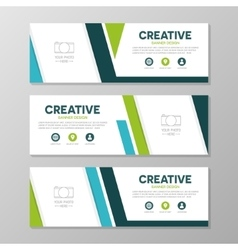 Green and blue corporate business banner template vector