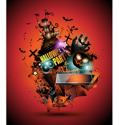 Halloween Night Event Flyer Party template vector
