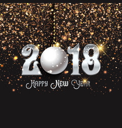happy new year confetti background vector image