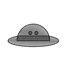 Hat safari isolated icon vector