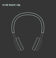 headphone icon line element vector image