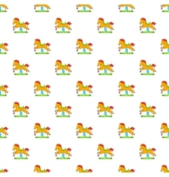 Horse rocking pattern cartoon style vector image