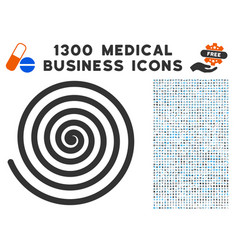 Hypnosis spiral icon with 1300 medical business vector