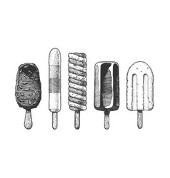 ice cream bar vector image