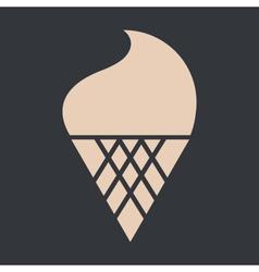 Ice Cream On Black vector image