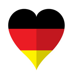Isolated flag of germany on a heart shape vector