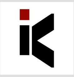 k ik ki initials geometric letter company logo vector image