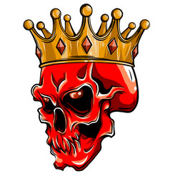 King death portrait a skull with a crown vector