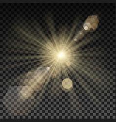 Lighting spark on transparent background vector