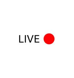 Live stream logo vector