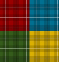 Lumberjack four color checkered square plaid vector