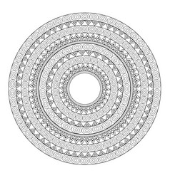 Mandalas for coloring book decorative black and vector