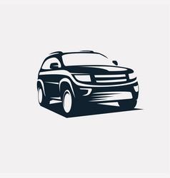 Modern suv logo template offroader car stylized vector