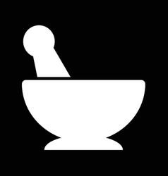 mortar pestle icon design vector image