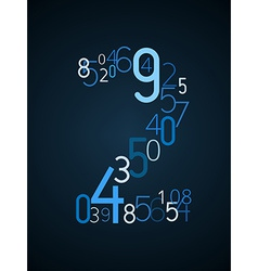 Number 2 font from numbers vector