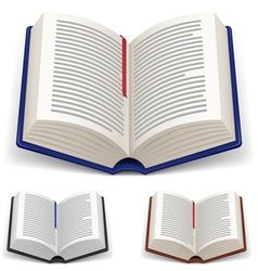 Open books vector