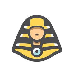 Pharaoh simple head icon cartoon vector