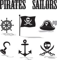 Pirate sailors vector