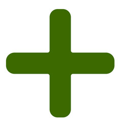plus cross icon symbol for healthcare first aid vector image
