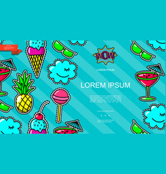 pop art patches and badges template vector image