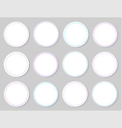 round napkins with various edges isolated on grey vector image
