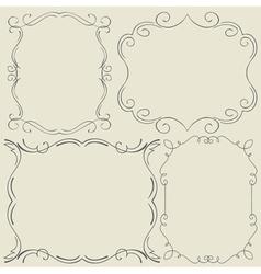 Set Frames Hand drawing vector