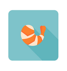 Shrimp icon vector