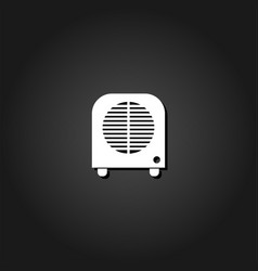 space heater icon flat vector image