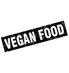 Square grunge black vegan food stamp vector