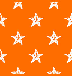 starfish pattern seamless vector image
