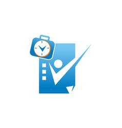 success businessman logo design template vector image