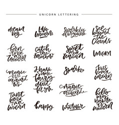 Unicorn lettering vector