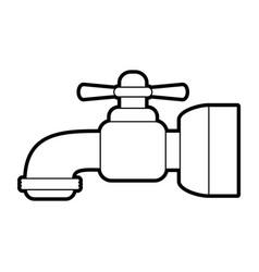 Water handle wrench vector