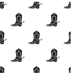 cowboy boot icon in black style isolated on white vector image