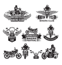emblems or logo designs for club of bikers vector image