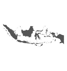 indonesia map black icon on white background vector image vector image